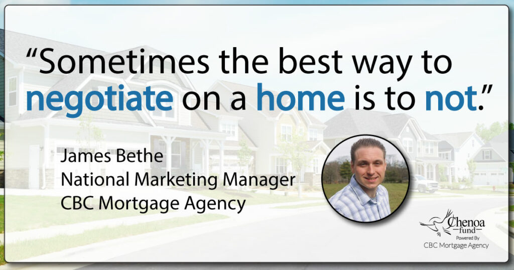 negotiate on a home quoute